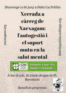 Diumenge 12 de juny a Distri La Polilla-Xarxagam- l'autogestió i el suport mutu en la salut mental